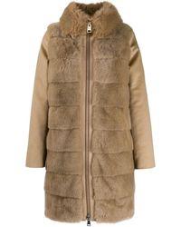 Herno Faux Fur Coat - Brown