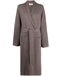 SMINFINITY Long-line Belted Cardigan - Multicolor