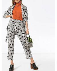 Figue Portia printed trousers - Schwarz