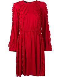 Giambattista Valli Ruffle Flared Dress - Rood