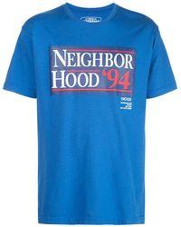 Neighborhood ロゴ Tシャツ - ブルー