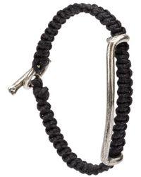 Tobias Wistisen Side Bar Macrame Bracelet - Black