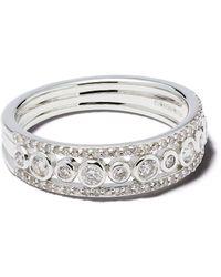 Astley Clarke 14kt White Gold Diamond Triple Icon Nova Ring - Metallic