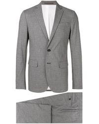 DSquared² Karierter Anzug - Grau