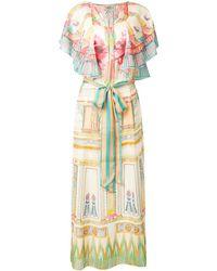 Temperley London Athena Printed Kaftan Dress - Multicolour