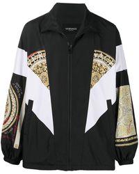 Versace Куртка Оверсайз С Принтом Barocco Mosaic - Черный
