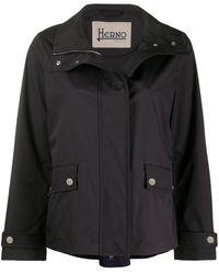 Herno High-neck Boxy Jacket - Blue