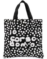 10 Corso Como Сумка-тоут В Горох С Логотипом - Черный