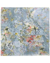 Preen By Thornton Bregazzi Floral Embroidered Neck-tie Scarf - Blue