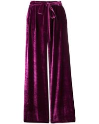 Roberto Collina - Belted Wide Leg Trousers - Lyst
