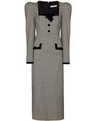 Alessandra Rich パフスリーブ ドレス - ブラック