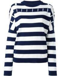 Jil Sander Striped round neck jumper - Blu