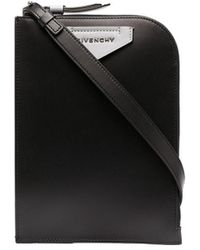 Givenchy ロゴ メッセンジャーバッグ - ブラック