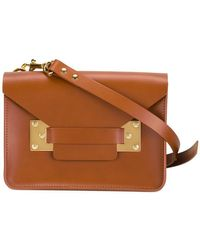 Sophie Hulme - Milner Mini Leather Envelope Crossbody - Lyst