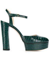 Jimmy Choo Туфли Maple 125 С Тиснением Под Кожу Крокодила - Зеленый