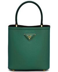 Prada Small Panier Tote Bag - Green