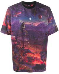 Marcelo Burlon T-shirt Met Print - Paars