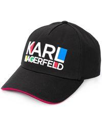 Karl Lagerfeld ロゴキャップ - ブラック