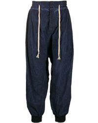 Vivienne Westwood ロゴ パンツ - ブルー