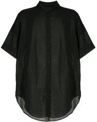 Julius ロングライン シャツ - ブラック