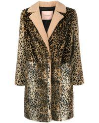 Twin Set Пальто С Леопардовым Принтом - Многоцветный