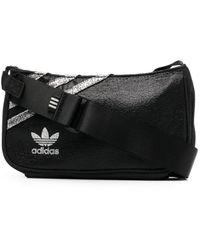 adidas ロゴ ショルダーバッグ - ブラック