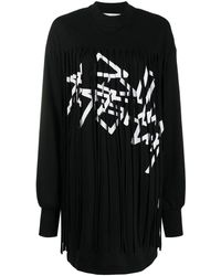 Palm Angels ロゴ フリンジドレス - ブラック