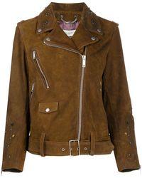 Golden Goose Deluxe Brand Байкерская Куртка С Заклепками - Коричневый