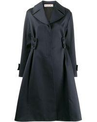 Marni Oversized-Mantel mit Knopfdetails - Blau