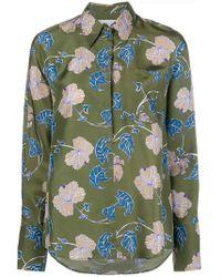 Christian Wijnants Oversized-Sweatshirt mit Blumen-Print - Grün