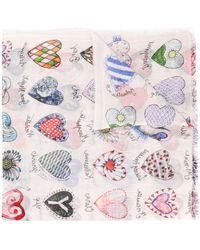 Faliero Sarti Heart-print Scarf - Multicolour