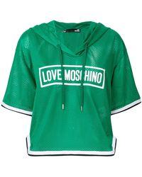 Love Moschino - Hooded T-shirt - Lyst