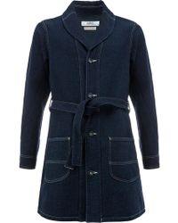 FDMTL - Stitched Belted Coat - Lyst