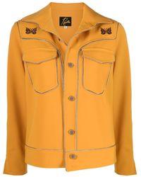 Needles Chain-trim Shirt Jacket - Yellow