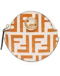 Fendi Кошелек Для Монет С Узором Ff - Многоцветный