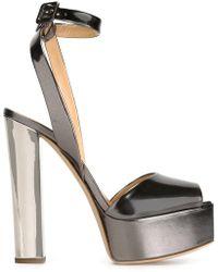 899da62fa90 Giuseppe Zanotti Betty Glitter Platform Sandals in Black - Lyst