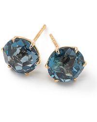 Ippolita Puces d'oreilles Medium Rock Candy London en or 18ct ornées de turquoise - Métallisé