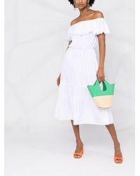 FEDERICA TOSI Платье С Открытыми Плечами И Оборками - Белый