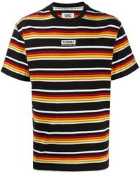 Tommy Hilfiger ストライプ Tシャツ - ブラック