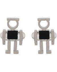 Ferragamo Gancini Figure Cufflinks - Metallic