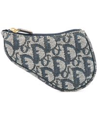 Dior Pre-owned Trotter Saddle Mini Pouch - Grey