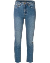 A.P.C. Distressed Cropped Jeans - ブルー