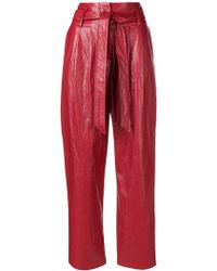 8pm - Varnished Cropped Trousers - Lyst