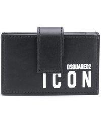DSquared² Картхолдер Icon С Боковыми Складками - Черный