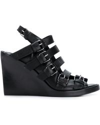 Ann Demeulemeester - Buckled Wedge Sandals - Lyst