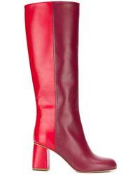 RED Valentino Red(v) Avired バイカラーブーツ - レッド