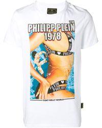 Philipp Plein Футболка С Графичным Принтом И Логотипом - Белый