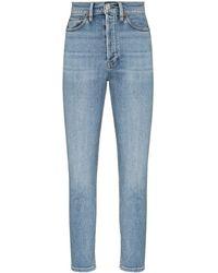 RE/DONE - Jeans skinny a vita alta - Lyst