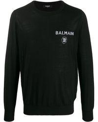 Balmain ロゴ セーター - ブラック