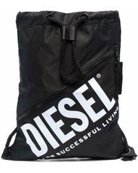 DIESEL Logo-print Drawstring Bag - Black